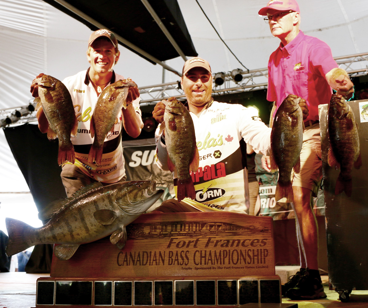 2016 Fort Frances Canadian Bass Championship team