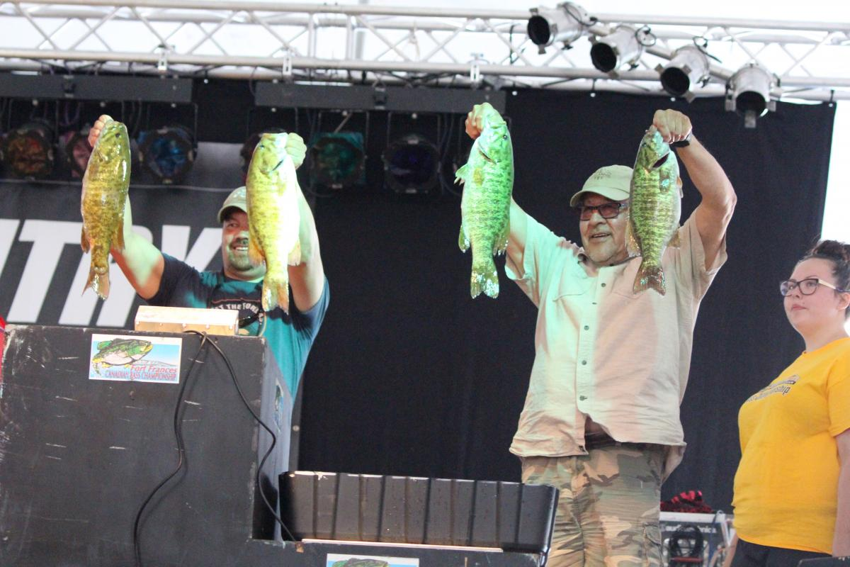 Fort Frances Canadian Bass Championship weigh-in